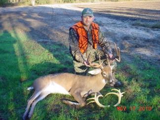 deer hunter with 14 pt.